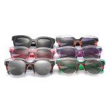 Chaud en plastique de la mode des lunettes de soleil polarisées Lunettes de soleil miroir