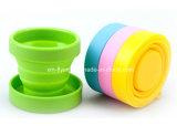 BPA liberano le tazze beventi pieganti del silicone infrangibile portatile, tazze di tè per il campeggio, alpinismo, corsa