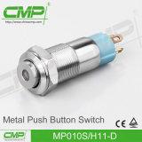 mini interruptor impermeable del botón de 10m m