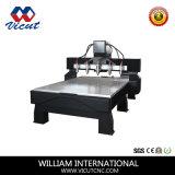 Router de madera giratorio con 10 jefes de la función de CNC máquina