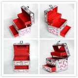 Коробка хранения ювелирных изделий алюминиевого сплава косметическая с ящиком