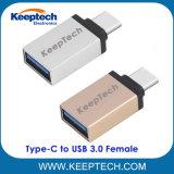 Tipo-c maschio del USB 3.1 all'adattatore del convertitore della femmina del USB 3.0