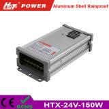 24V 6A 세륨 RoHS Htx 시리즈를 가진 방수 LED 전력 공급