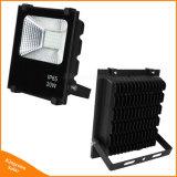 Lumière d'inondation actionnée extérieure du panneau solaire DEL de Recharegeable 50With100W pour l'éclairage de pelouse de rue