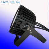 9*15W Rgbaw 5 в 1 Водонепроницаемый светодиодный PAR лампа для установки вне помещений