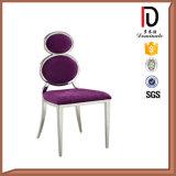Edelstahl-Stuhl mit Wort acht