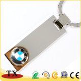 Metal de encargo plateado de metal Keychain de la insignia de los coches