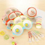 Fibre de bambou Cartoon dîner ensemble de la vaisselle 5PCS pour les enfants