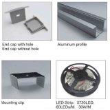 4204 Perfil de LED de aluminio rebajado para la decoración de la luz de techo