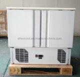 Bancada de aço inoxidável Saladette refrigerado com 2 portas sólidas