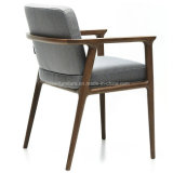 cadeira de madeira da sala de jantar da mobília moderna do restaurante com braço