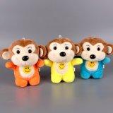 빨판을%s 가진 귀여운 연약한 채워진 원숭이 견면 벨벳 장난감 Keychain