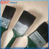 Poignée en plastique de couleur verte Soies de brosses de peinture noire
