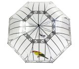중국 승진 로고에 의하여 주문을 받아서 만들어지는 투명한 우산