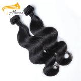 Пачки волос объемной волны естественной черной Unprocessed девственницы малайзийские