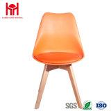 Cadeira de couro do pé de madeira do plutônio da cadeira moderna do lazer