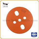 Le meilleur outil de vente de diamants de la plaque de meulage, le béton le meulage de la plaque avec 4 segments