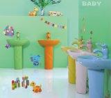 Санитарные продовольственный керамическая раковина пьедестал для детей (B2002)