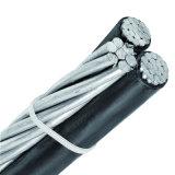 Les frais généraux de l'aluminium isolés en polyéthylène réticulé Duplex Câble antenne Triplex groupés ABC