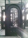 Puerta directa del hierro labrado de la fábrica ornamental