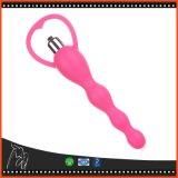 Branelli vaginali di girata del giocattolo del sesso anale del vibratore delle donne del silicone che vibrano il giocattolo adulto del sesso dei vibratori di massaggio della clitoride della spina di estremità per la femmina