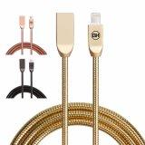 2Una aleación de zinc metal rápida USB Cable de sincronización de datos para el iPhone