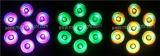 Dünnes NENNWERT LED 12X12W RGBWA+UV Stadiums-Licht mit Powercon