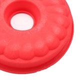 Certificado FDA Pastel de silicona, molde de silicona hueco Redondo Molde de torta de molde de budín/