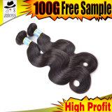 Волна человеческих волос, выдвижение волос бразильянина 100%