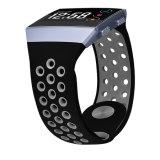 Zachte Band van de Sport van het silicone de Rubber voor het Ionische Silicone van de Riem van het Horloge Fitbit