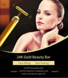 최신 인기 상품 안면 마사지 드는 기계 24K 황금 에너지 얼굴 진동 바 T 모양 여자 아름다움 바
