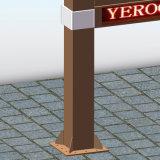 Scrolling esterno del contrassegno della via che fa pubblicità al tabellone per le affissioni