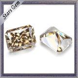 Champagne de couleur marron Moissanite Radiant cut diamond
