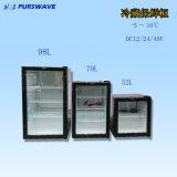 Охладитель батареи холодильника витрины 0~10degree стеклянной двери DC 12V24V Purswav Sc-98 98L охлаждая солнечный