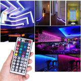 Shenzhen, la iluminación LED Nuevo Kit completo, 5m 10m 5050 TIRA DE LEDS RGB con adaptador de alimentación y la clave de 44 Kit de tiras de LED remoto