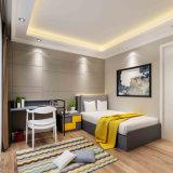 تجاريّة فندق غرفة نوم أثاث لازم سرير خشبيّة مع لين حامل قفص