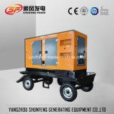 Tipo de Reboque móvel 300KW de potência eléctrica Cummins silenciosa gerador diesel