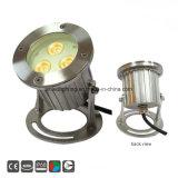 Protección IP68 3*3W iluminación subacuática de la luz de estanque LED