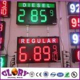 屋外7segmentデジタルLEDのガス代の印の表示