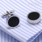 Collegamenti di polsino neri rotondi dell'agata di VAGULA 10122