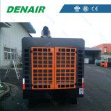 Gefahrener Dieselluftverdichter für Kupfermine-Projekt (keine Räder)