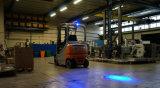 10-60V 10W de 3 pulgadas de lentes 4D Azul LED luces de spot para la seguridad de la carretilla elevadora