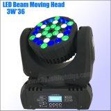 Het LEIDENE Mini Bewegende Licht van de Straal 36*3W