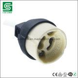 Supporto di ceramica della lampada dell'alogeno del VDE Listied GU10 con la scatola di giunzione