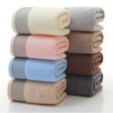 100%とかされた綿のドビーの固体染められた浴室タオル(02Y0005)