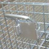 Faltbarer stapelbarer Hochleistungsmaschendraht-Rahmen für Lager-Speicher