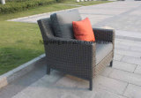 Sofà di Furniturte del patio il grande ha impostato 0047 con il vimine piano della curva della luna mezza di 10mm
