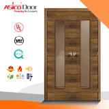 Porte décorative de voûte de bois de construction solide de FSC
