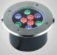 304 acero inoxidable IP67 RGB LED subterráneo / luz inground del LED