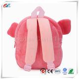 女の子の子供のための幼児の子供のランドセルの赤ん坊の動物園のプラシ天のピンクのブタの動物の漫画の小型バックパック